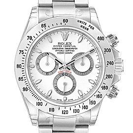 Rolex Daytona White Dial Chronograph Steel Mens Watch 116520 Unworn