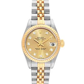 Rolex Datejust 26mm Steel Yellow Gold Diamond Ladies Watch 79173