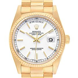 Rolex President Day-Date Yellow Gold Mens Watch 18038 Box Papers