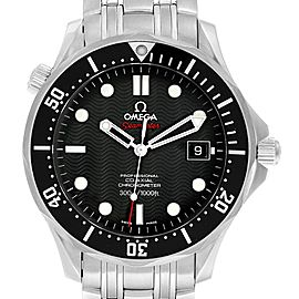 Omega Seamaster James Bond Steel Mens Watch 212.30.41.20.01.002 Box Card