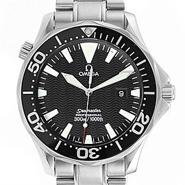 Omega Seamaster Black Dial Steel Mens Watch 2264.50.00 Card