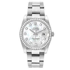 Rolex Datejust 36 Mother of Pearl Diamond Unisex Watch 116244
