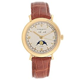 Vacheron Constantin Triple Calendar Moon Phase Yellow Gold Watch 47050