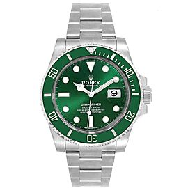 Rolex Submariner Hulk Green Dial Bezel Steel Steel Mens Watch 116610LV
