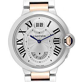 Cartier Ballon Bleu 42 Steel Rose Gold Two Time Zones Watch W6920027