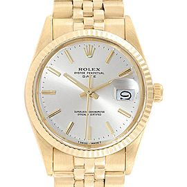 Rolex Date Yellow Gold Jubilee Bracelet Vintage Mens Watch 1503