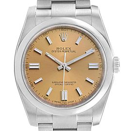 Rolex Oyster Perpetual 36 White Grape Dial Mens Watch 116000 Unworn