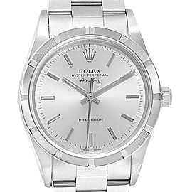 Rolex Air King Silver Baton Dial Oyster Bracelet Steel Mens Watch 14010