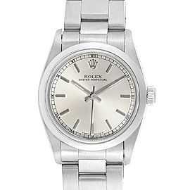 Rolex Midsize 31mm Silver Dial Automatic Steel Ladies Watch 67480