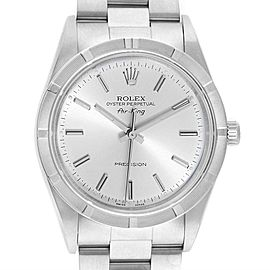 Rolex Air King Silver Dial 34mm Oyster Bracelet Steel Mens Watch 14010