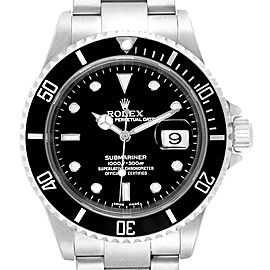 Rolex Submariner 40mm Black Dial Steel Mens Watch 16610 Box