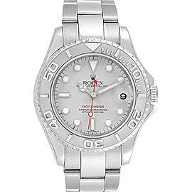 Rolex Yachtmaster 35mm Midsize Steel Platinum Mens Watch 168622