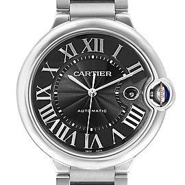 Cartier Ballon Bleu 42 Black Dial Steel Mens Watch W6920042