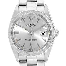 Rolex Date Vintage Silver Dial Stainless Steel Mens Watch 1501