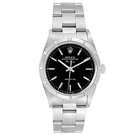 Rolex Air King 34 Black Dial Oyster Bracelet Steeel Mens Watch 14010