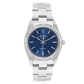 Rolex Air King 34mm Blue Dial Stainless Steel Mens Watch 14010