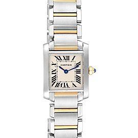 Cartier Tank Francaise Steel Yellow Gold Quartz Ladies Watch W51007Q4