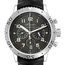 Breguet Transatlantique Type XXI Flyback Ruthenium Dial Watch 3810ST/92/9ZU