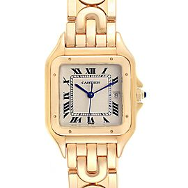 Cartier Panthere XL Art Deco Yellow Gold Mens Watch W25014B9