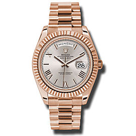 Rolex Day-Date II President Rose Gold Sundust Dial 40mm Watch