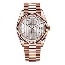 Rolex Day-Date II President Rose Gold Sundust Stripe Dial 40mm Watch