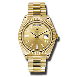 Rolex Day-Date Black Champagne Diamond Dial 18K Yellow Gold Automatic Men's Watch Watch