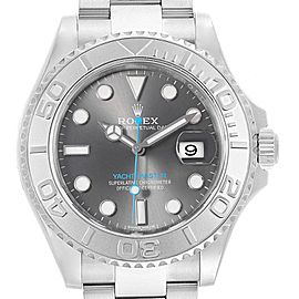 Rolex Yachtmaster Rhodium Dial Steel Platinum Mens Watch 116622 Box Card