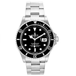 Rolex Submariner 40mm Black Dial Steel Mens Watch 16610