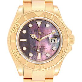 Rolex Yachtmaster 40 Yellow Gold Mother of Pearl Dial Mens Watch 16628