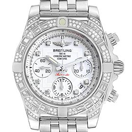 Breitling Chronomat Evolution 41mm Steel Diamond Mens Watch AB0140