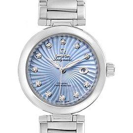 Omega DeVille Ladymatic Blue MOP Diamond Ladies Watch 425.30.34.20.57.002