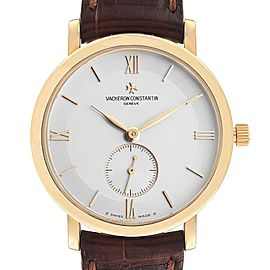 Vacheron Constantin Patrimony Yellow Gold Silver Dial Mens Watch 81160