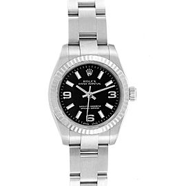 Rolex Nondate Steel White Gold Black Dial Ladies Watch 176234