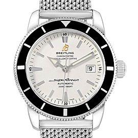 Breitling Superocean Heritage 42 Mesh Bracelet Steel Mens Watch A17321