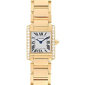 Cartier Tank Francaise Small Yellow Gold Diamond Ladies Watch WE1001R8
