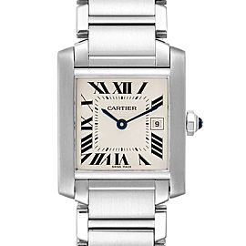 Cartier Tank Francaise Midsize Silver Dial Ladies Watch W51011Q3 Box