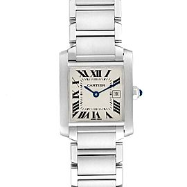 Cartier Tank Francaise Midsize Blue Hands Ladies Watch W51011Q3