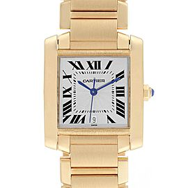 Cartier Tank Francaise Large 18K Yellow Gold Ladies Watch W50001R2