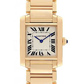 Cartier Tank Francaise Midsize 18K Yellow Gold Ladies Watch W50003N2