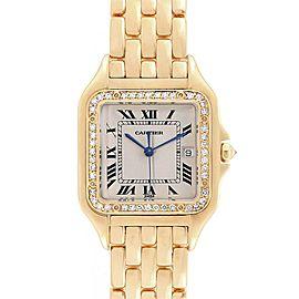 Cartier Panthere XL 18K Yellow Gold Diamond Unisex Watch W25014B9