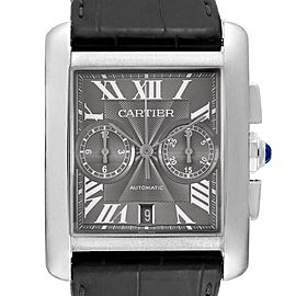 Cartier Tank MC Grey Dial Chronograph Mens Watch W5330008 Box Papers