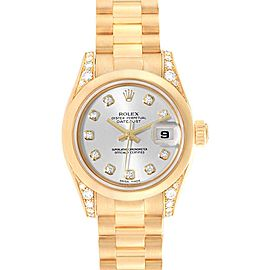Rolex President Crown Collection 18K Yellow Gold Diamond Watch 179298