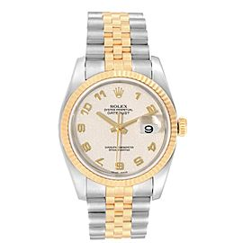 Rolex Datejust Steel Yellow Gold Anniversary Dial Mens Watch 116233