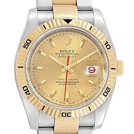 Rolex Datejust Turnograph 36mm Steel Yellow Gold Mens Watch 116263