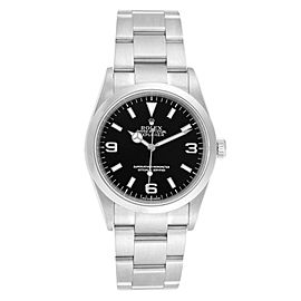Rolex Explorer I Luminescent Arabic Numerals Steel Mens Watch 114270