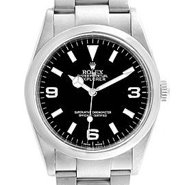 Rolex Explorer I Luminescent Arabic Numbers Steel Mens Watch 114270