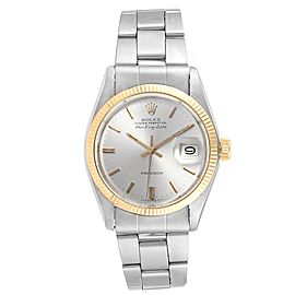 Rolex Air King Silver Dial Vintage Steel Yellow Gold Mens Watch 5701