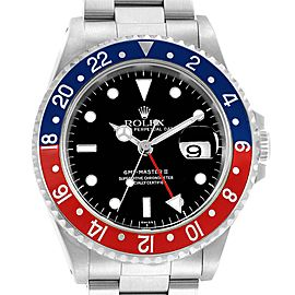 Rolex GMT Master II Blue Red Pepsi Bezel Steel Mens Watch 16710