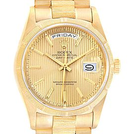 Rolex President Day-Date 36 Yellow Gold Tapestry Dial Mens Watch 18238