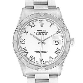 Rolex Turnograph Datejust Steel White Gold Steel Mens Watch 16264